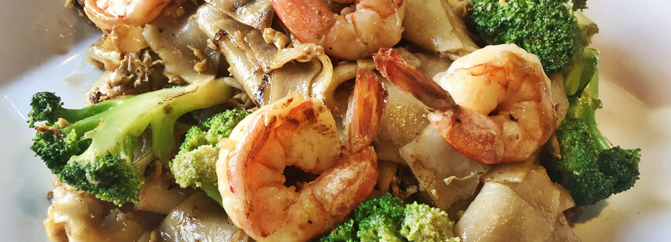 Pad See Eaw with Shrimp
