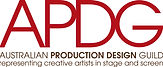 Australian Production Design Guild logo. The letters A, P, D and G in large red text.