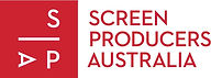The Screen Producers Australia logo. The letters S, P and A are white in a red box, whilst the organisations name is red in a white rectangle.