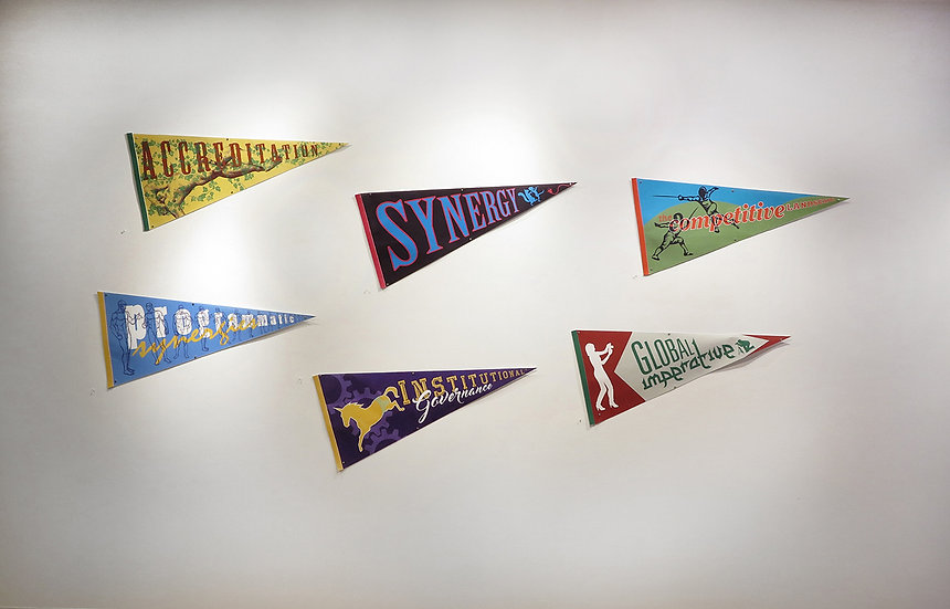 Set of 6 Pennants, 2018