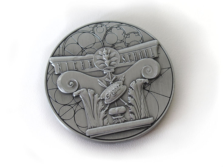 Niche School Coin with Stand, 2018