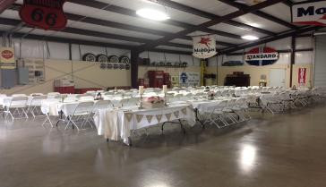 Chairs and tables setup