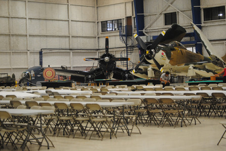 Chair Setup for Airshow