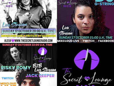Our Fabulous Sunday Live Stream Line Up