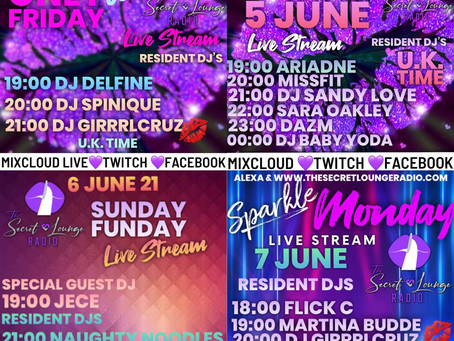 The Weekend Live Stream Line up