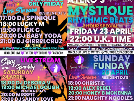 Our fabulous weekend Live Stream line up