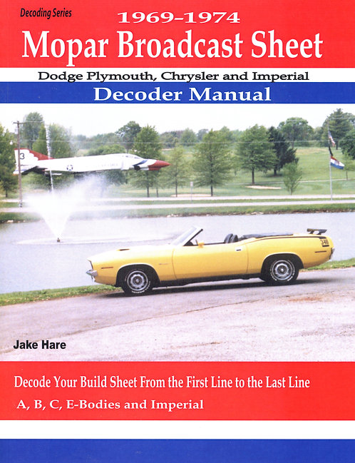 Broadcast sheet Decoder guide 1969-1974