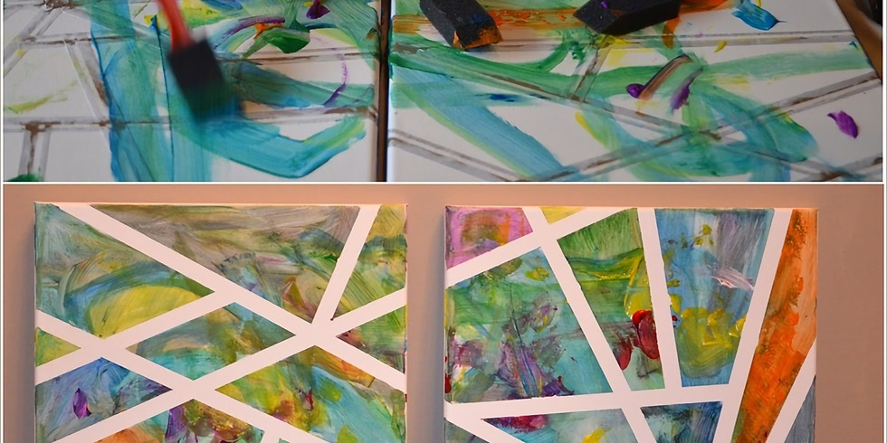 Half-Term Art Workshop - Abstract Tape Painting