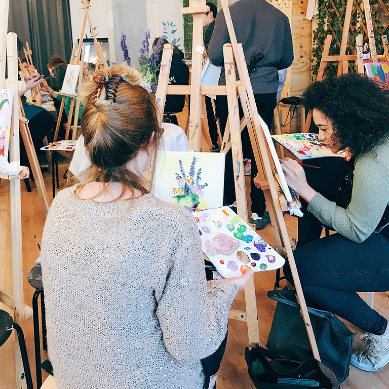 Mother's Day Flower Painting Workshop with Afternoon Tea