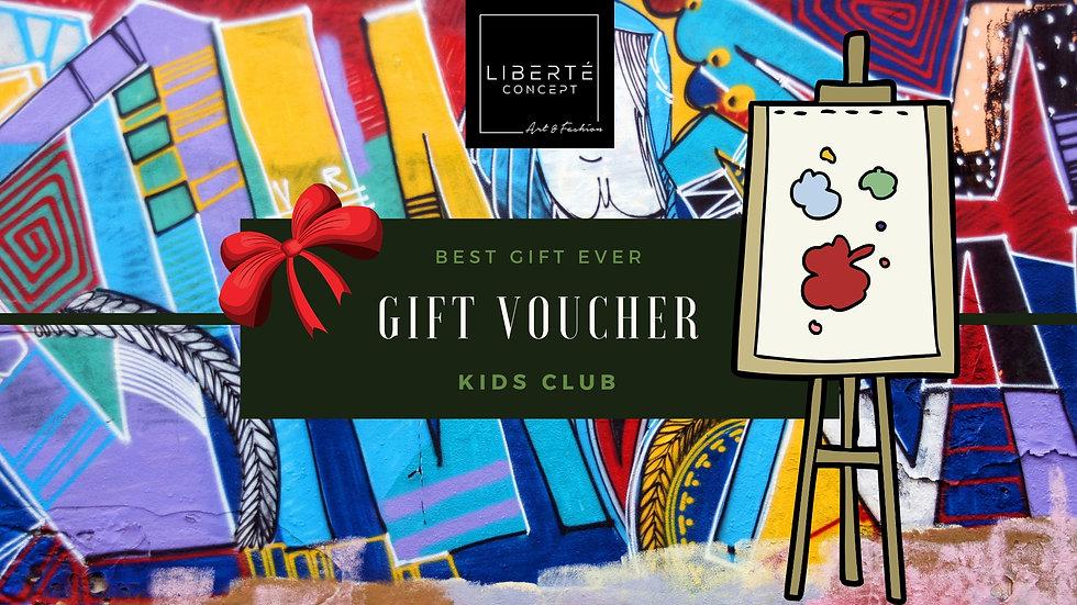 Kids Art Club Gift Voucher