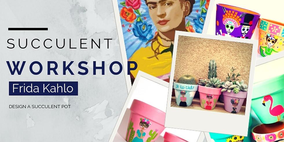 Frida Kahlo Inspired Succulent Plant Pot Styling Workshop