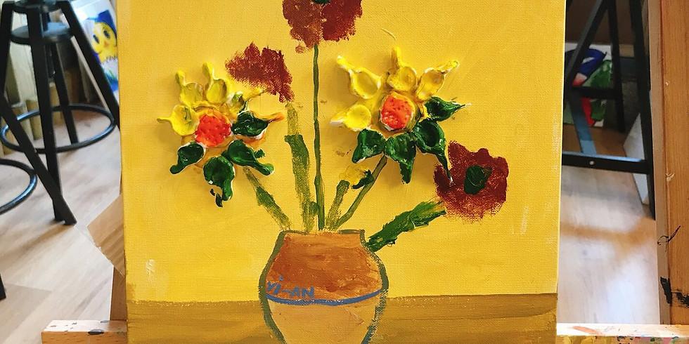 Kids Art Club -Van Gogh's 3D Sunflower