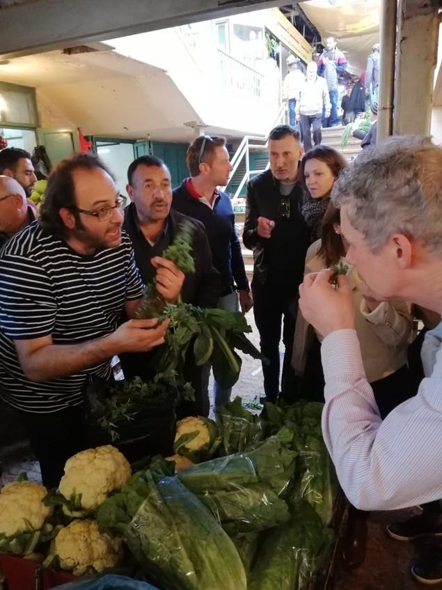 Chef Fadi Kattan at Bethlehem Farmers Market