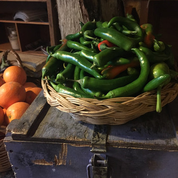 Locally grown vegetables and fruits