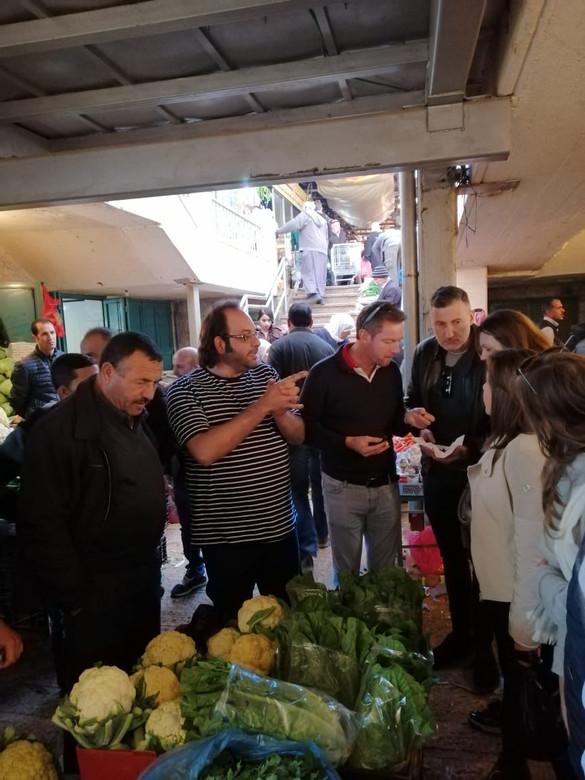 Chef Fadi Kattan at Bethlehem Old Market