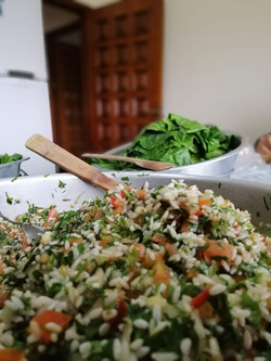 Preparation of cauliflower leaves