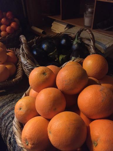 Locally grown oranges