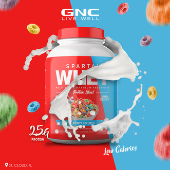 Try our loopy fruits flavor with 25g protein per serving💪🏽 #protein #fruits #flavor #workout #live #live #gnc