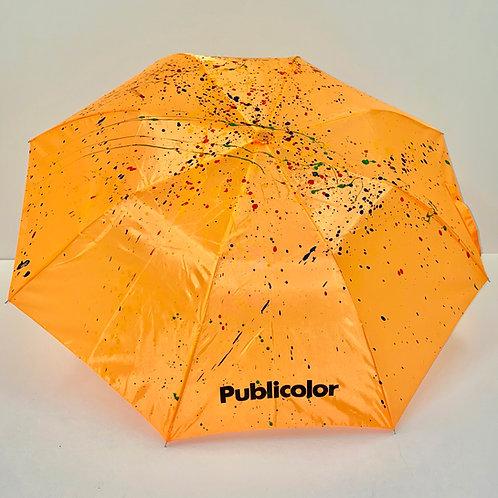 Splattered Umbrella - Orange