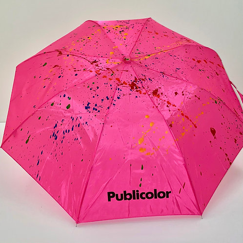 Splattered Umbrella - Pink