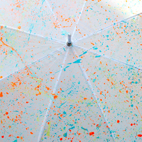Splattered Umbrellas