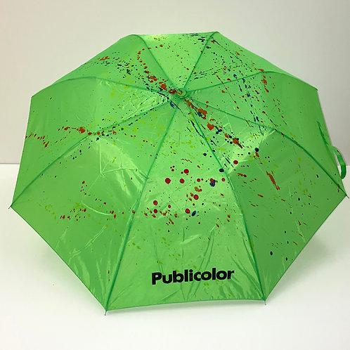 Splattered Umbrella - Green