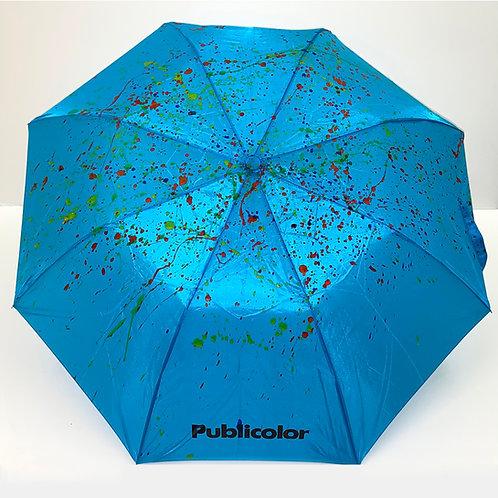 Splattered Umbrella - Blue