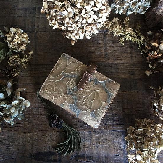 leather binder antique rose