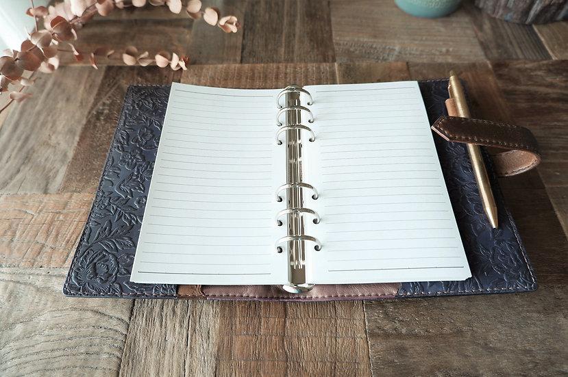 紫の革製システム手帳
