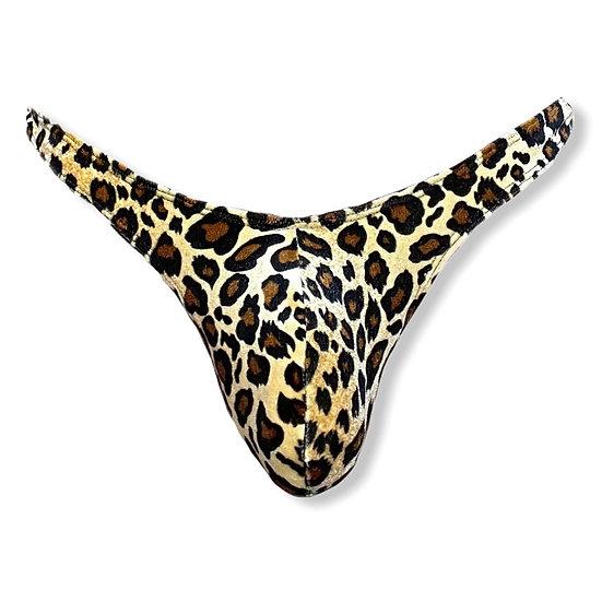 Leopard/Mesh Thong