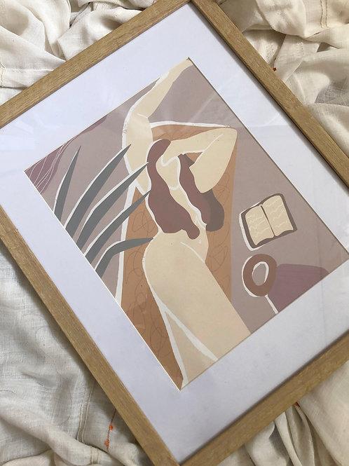 8x10 ALAS KWATRO ART PRINT FRAMED WITH BORDER