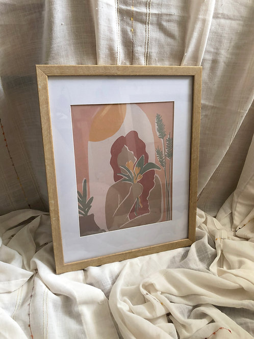 8x10 ADORE ART PRINT FRAMED WITH BORDER