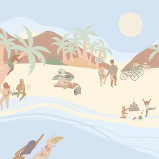 Ciqle Clean Beach Illustration