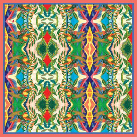 kika Iris Eye flowers Pattern