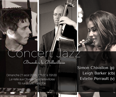 Estele Tiyana Perrault à la Bellevillose, Brunch, jazz, concert