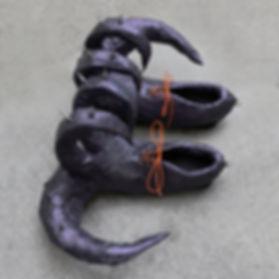 5) Sculptural Shoes (eggplant purple) 20