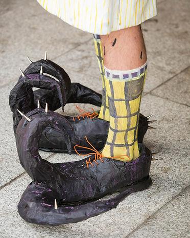 6) Sculptural Shoes (eggplant purple) 20