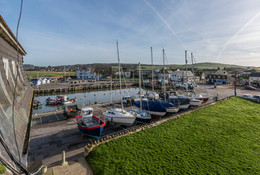 View from By the Harbour apartment, West Bay self catering, Dorset