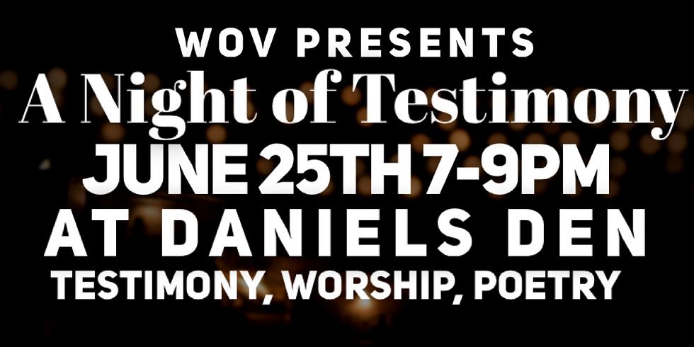 WOV - A Night of Testimony