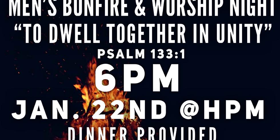 Men's bonfire and worship night