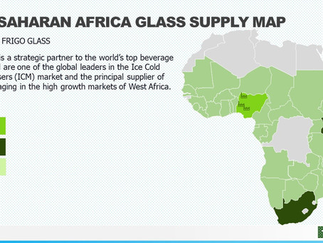SUB SAHARAN AFRICA GLASS SUPPLY MAP