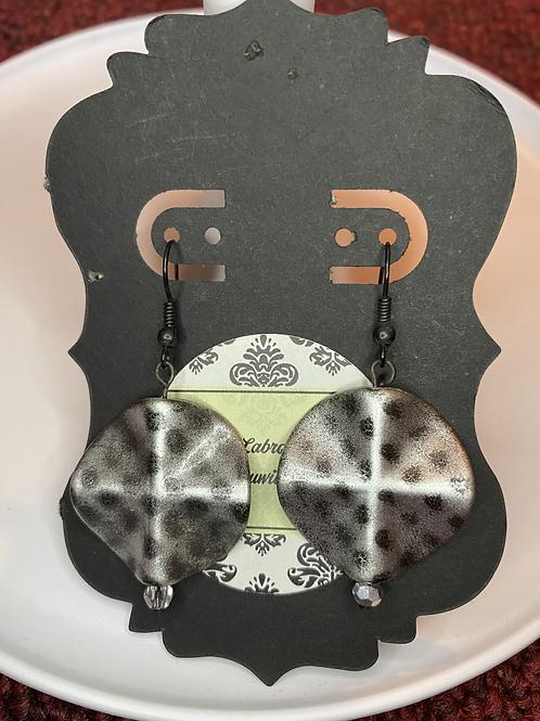 Silver w/ Black Dots Earrings