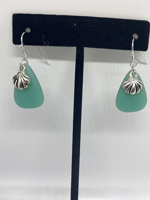 Sea glass & Seashells Earrings