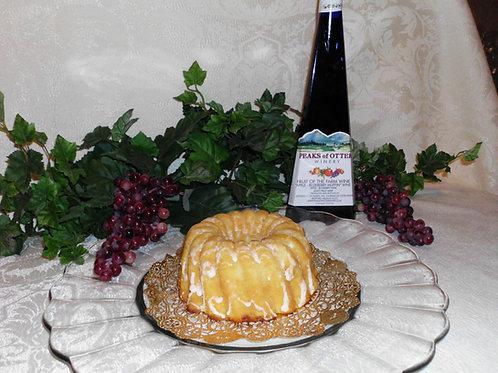Bluberry Wine Pound Cake