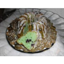 Mint Chocolate Chip Pound Cake