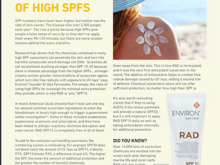 The dangers of high SPFS