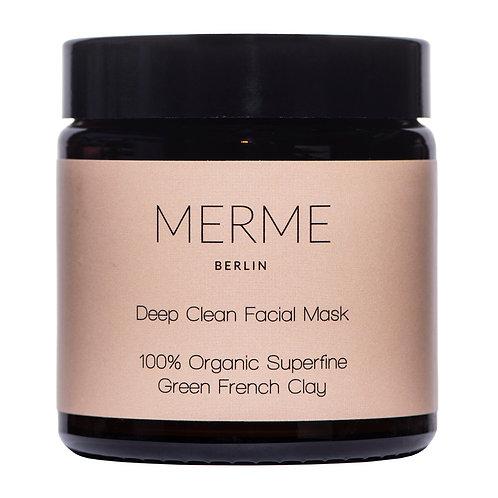 MERME Deep Clean Facial Mask 100% Organic Superfine Green Clay