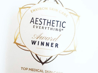 Environ wins Top Medical Skin Care- 2nd year running!