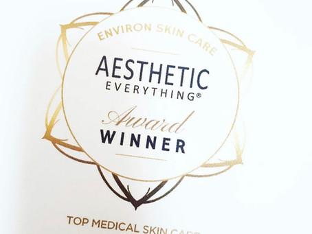 Environ wins Top Medical Skin Care- 2nd year running!