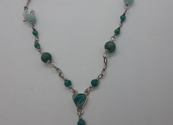 Amazonite y necklace